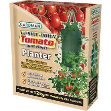 Upside Down Tomato Planter by Gardman Upside Down Tomato Planter Bag Bunnings Warehouse