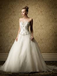long strapless tulle wedding dress with sweetheart neckline