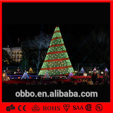 factory price giant led artificial spiral christmas tree led