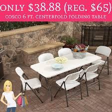 cosco 6 centerfold table only 38 88 regular 65 cosco 6 ft centerfold folding table