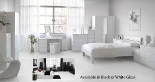 Bedroom Furniture White Gloss Interesting Bedroom Furniture White Gloss High Throughout Decor