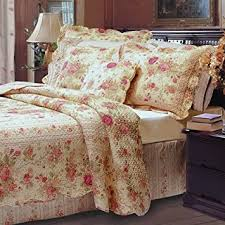 Shabby Chic Queen Sheets by Amazon Com 5pc Chic Shabby Romantic Rose Bedding Quilt Set Full