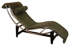 le corbusier lc4 green leather chaise longue modern indoor