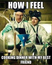 Funny Cooking Memes - how i feel cooking dinner with my best friend