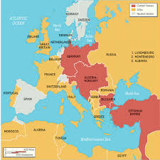 Europe Map During Ww1 Ww1 Adams Lessons Tes Teach