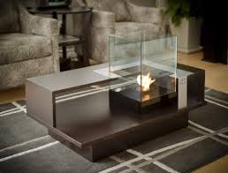Indoor Firepit Coffee Table With Built In Fireplace Indoor Pit Table