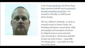 joe paterno halloween mask jerry sandusky son charged with sexually assaulting children