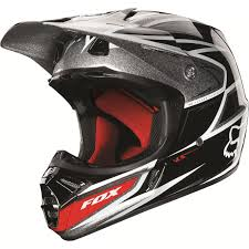 fox motocross helmet clearance sale fox v3 race black silver helmet 2013 online