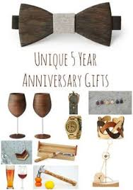 five year wedding anniversary gift ideas 5 year anniversary 1 gift that reminds you of each year of