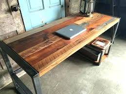 Wood Desk Ideas Rustic Wood Desk Chatel Co
