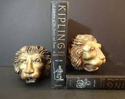 lion bookends lion bookends etsy