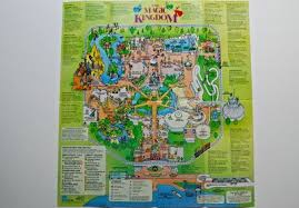 magic kingdom disney map guide maps for walt disney circa1994living a disney