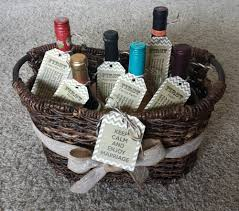 bridal shower wine basket gift ideas for a bridal shower tara s designs