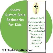 bible bookmarks printable craft for kids