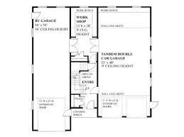 Rv Garage Floor Plans Rv Garage Plans Garage Loft Plan With Rv Storage And Two Tandem