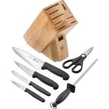 walmart kitchen knives 7 knife block set with black fibrox handle 3 5 quot