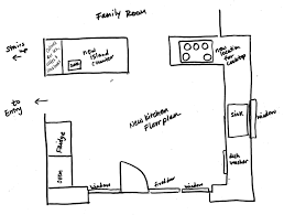 Kitchen Design Plans With Island by Kitchen Floor Plans With Walk In Pantry Voluptuo Us