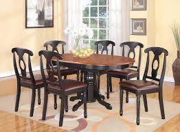 kitchen style classic wooden chairs with leather cushions