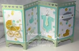 stampin u0027 up silk screen room divider baby card youtube