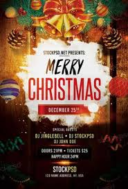best 35 free flyer templates for christmas party events for free
