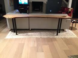 Sofa Table Desk by Sofa Tables Figured Black Walnut Lumber Live Edge Furniture