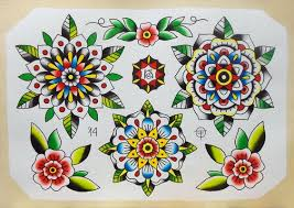 american traditional flower stencils traditional rose tattoo