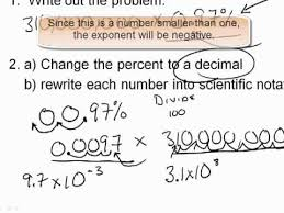 working with scientific notation 1 working with scientific notation