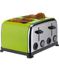 12 Slice Toaster Buy Colourmatch Stainless Steel 4 Slice Toaster Apple Green At