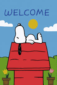 non vintage flag snoopy s doghouse welcome snoopn4pnuts