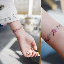 simple flower wrist working out meanings symbols