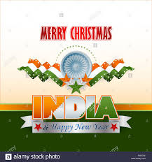 Flags That Are Orange White And Green Merry Christmas Background With Green White Orange Stars And