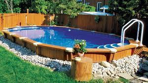 Inground Pool Landscaping Ideas Best Semi Inground Swimming Pools Pools U0026 Backyards Pinterest