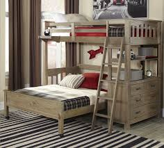 kenwood collection loft with bottom bed in driftwood kids