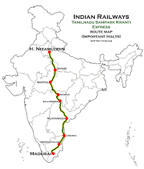 One World Route Map by Tamil Nadu Sampark Kranti Express Wikipedia