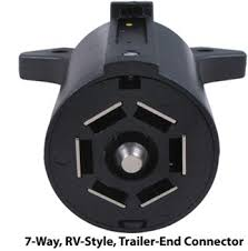 hopkins trailer connector adapter 7 pole round pin to 7 pole rv