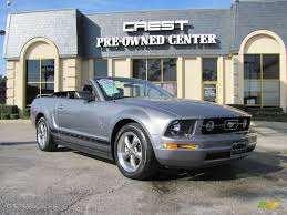 2006 Mustang Black 2006 Tungsten Grey Metallic Ford Mustang V6 Premium Convertible