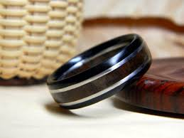 wood wedding band men s wood wedding band crafted with rich walnut and