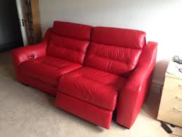Leather Oversized Recliner Furniture Comfortable Red Leather Recliner On Cozy Berber Carpet