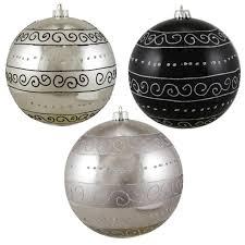 3ct black silver swirl design shatterproof
