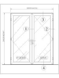 bd325 series balcony doors