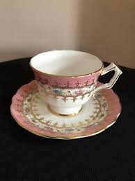 teacup and saucer aynsley floral pink bone china teacup and saucer ebay