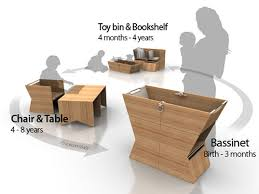 Modern Convertible Furniture by Yiahn Convertible Bassinet Toy Bins Baby Furniture And Babies