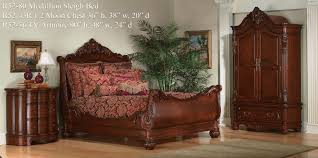 Solid Wood Sleigh Bed Bedroom Gorgeous King Sleigh Bed With Beautiful Colors For