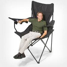 Folding Armchair This Giant Folding Chair Has 6 Cup Holders