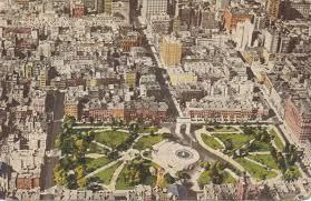 New York Washington Map by Washington Square View 1920s Ephemeral New York