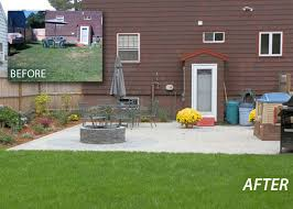 Backyard Renovations Before And After Landscaping Before And After Photos Waterfalls Hardscapes