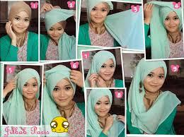 tutorial hijab paris ke pesta cara memakai jilbab kreasi jilbab paris untuk ke pesta