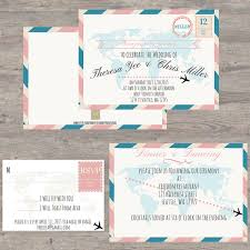 themed invitations 11 travel themed wedding invitations knotsvilla