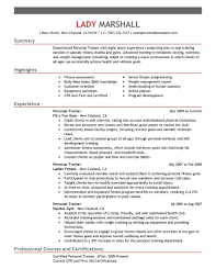 Resume For Caregiver Job by Best Personal Trainer Resume Example Livecareer