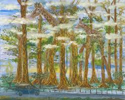 wandering eucalyptus trees road to hana art oil painting